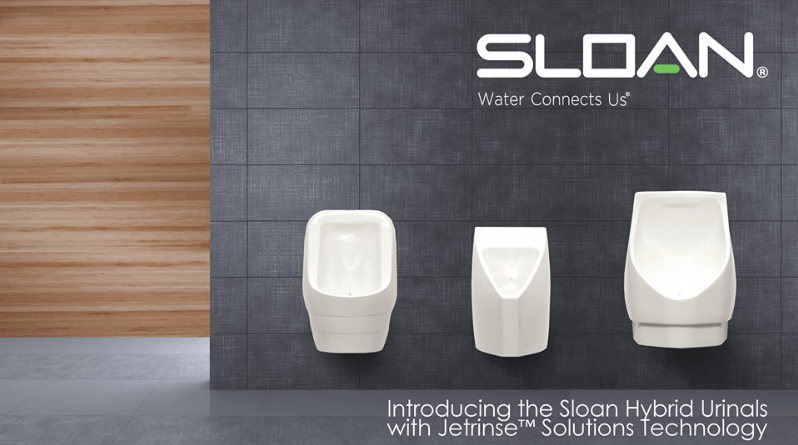 Sloan Valve Energy Efficient Urinals