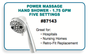 hand held massager water saver showerhead