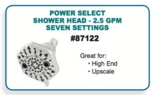 water efficient showerhead oxygenics multisetting