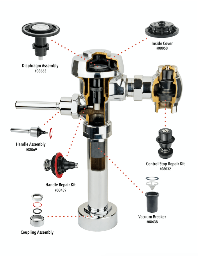 Royal Flushometer Repair Parts