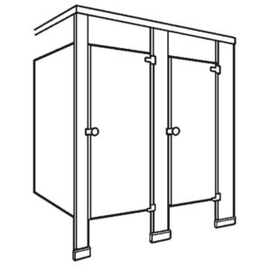 Floor supported with headrail partitions