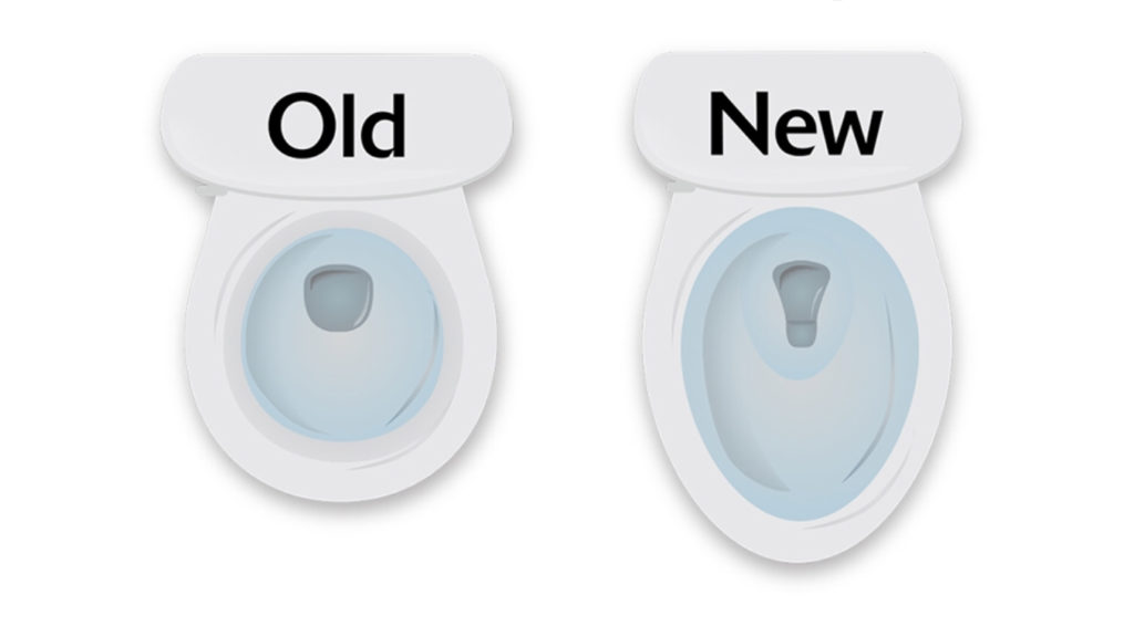New and new toilet drain shapes