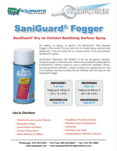 SaniGuard Fogger Information Sheet