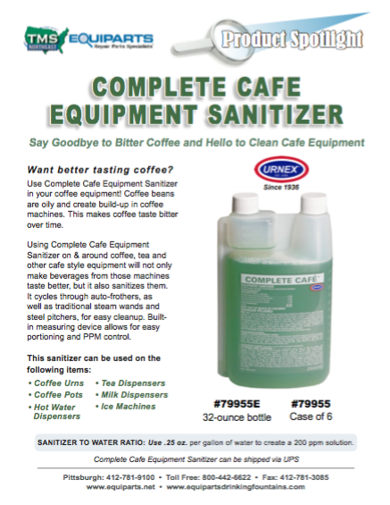 Complete Cafe Equipment Sanitizer