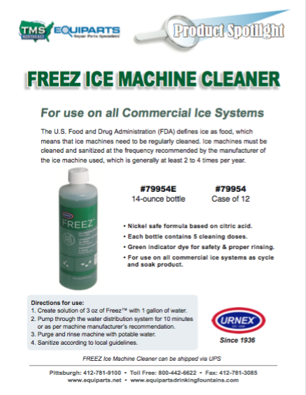 URNEX FREEZ Ice Machine Cleaner