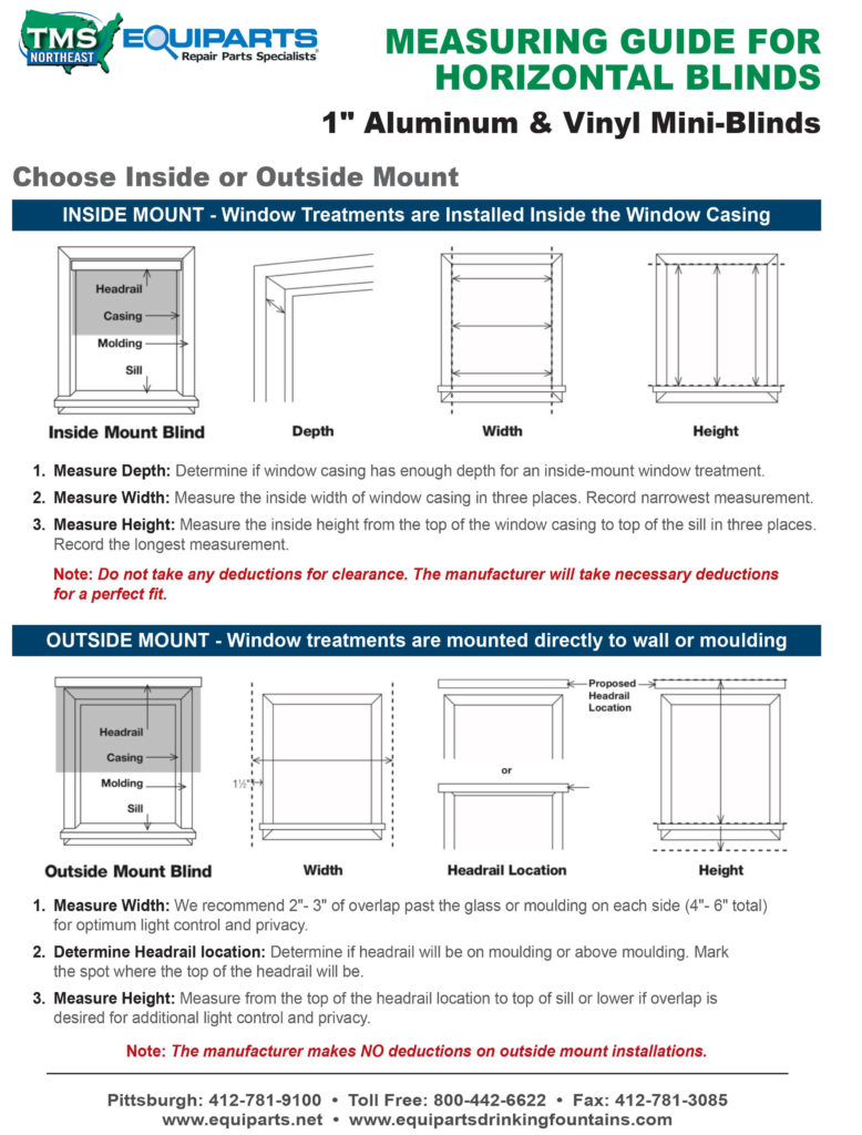 Window Blind Measuring Guide