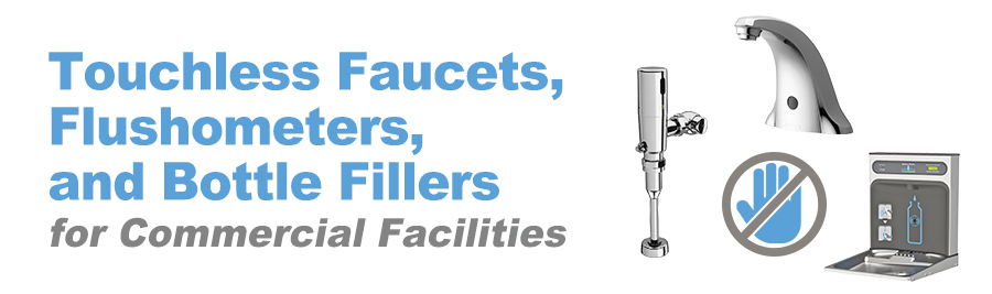 Touchless Faucets, Flushometers and Bottle Fillers Banner Image